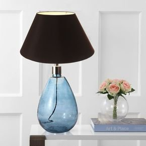 Anasa Sky Blue Glass Table Lamp