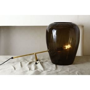 Anasa Grey Glass Table Lamp