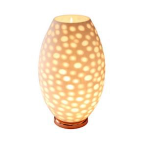 Anasa White/ Copper Glass Double Glass White Table Lamp-1