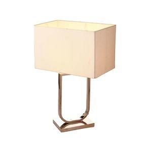 Anasa Silver Metal Zara Lamp U Shaped