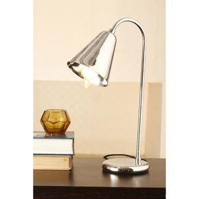 Anasa Silver Metal Study Lamp