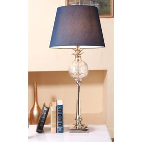 Anasa Silver Metal Pinapple Lamp