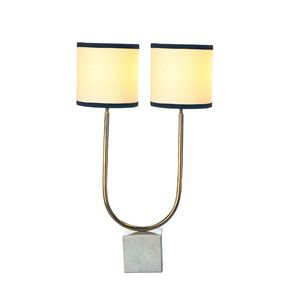 Anasa Golden/ White Metal / Marrble Base Table Lamp