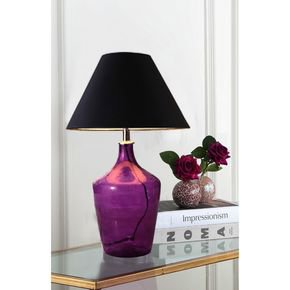Anasa Purple Glass Table Lamp