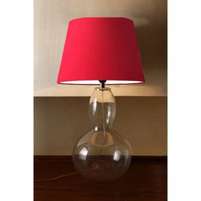 Anasa Transparent Glass Table Lamp