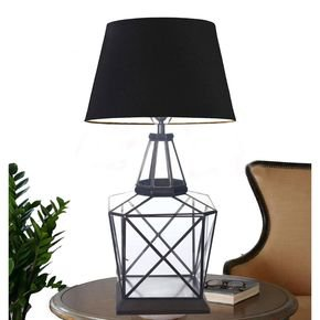 Anasa White Glass/Metal Table Lamp