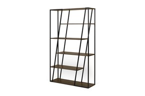 Albi-Shelving-Unit-In-Walnut-Veneer-And-Black-Metal_Tema-Home_Treniq_0