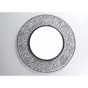 Anasa Black Metal Decorative Wall Mirror13