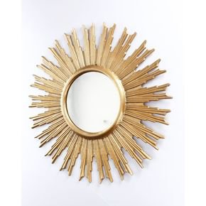Anasa Golden Metal Decorative Wall Mirror11