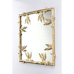 Anasa Golden Metal Decorative Wall Mirror10