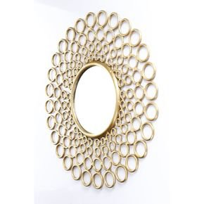 Anasa Golden Metal Decorative Wall Mirror9