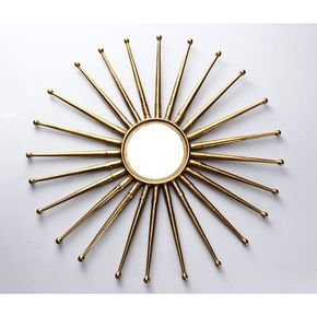 Anasa Golden Metal Decorative Wall Mirror6