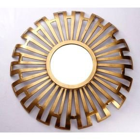 Anasa Golden Metal Decorative Wall Mirror5