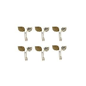Anasa Golden Metal Multi Purpose Hooks Set Of 2