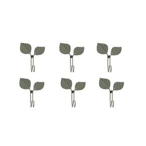 Anasa Olive Green Metal Multi Purpose Hooks Set Of 2