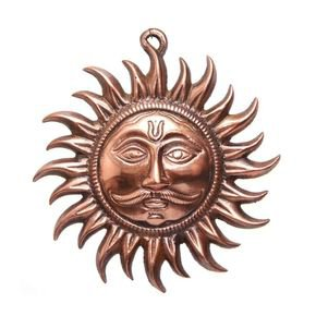 Anasa Brass Copper Color Vastu Sun Mask