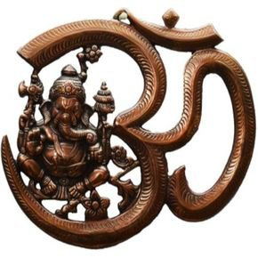 Anasa Aluminium Copper Color Ganesha With Om