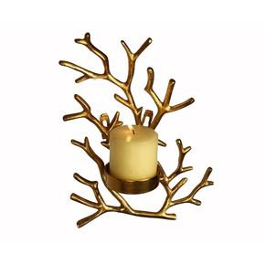 Anasa Golden Metal Wall Candle Holder Tealight Hanging Sconces