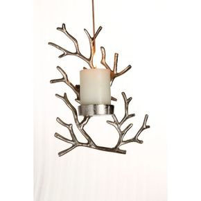 Anasa Silver Metal Wall Candle Holder Tealight Hanging Sconces