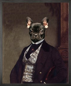 Portrait-Of-French-Bulldog-Canvas-_Mineheart_Treniq_0