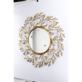 Anasa Golden Metal Wall Mirror Vintage Style Frame
