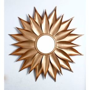 Anasa Golden Metal Wall Delight Mirror