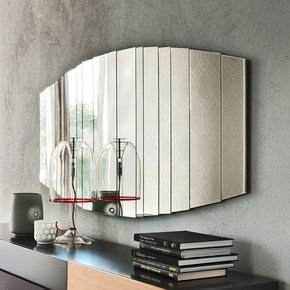 Anasa Silver Glass Elliptical Wall Mirror