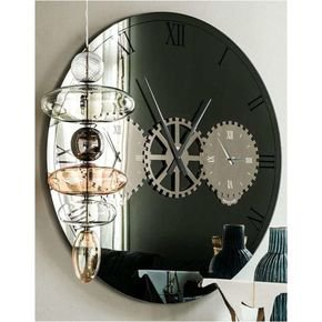 Anasa Round Wall Clock With Glass