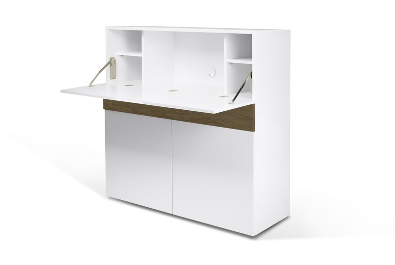 Focus workstation in white and walnut temahome treniq 1 1564760848765