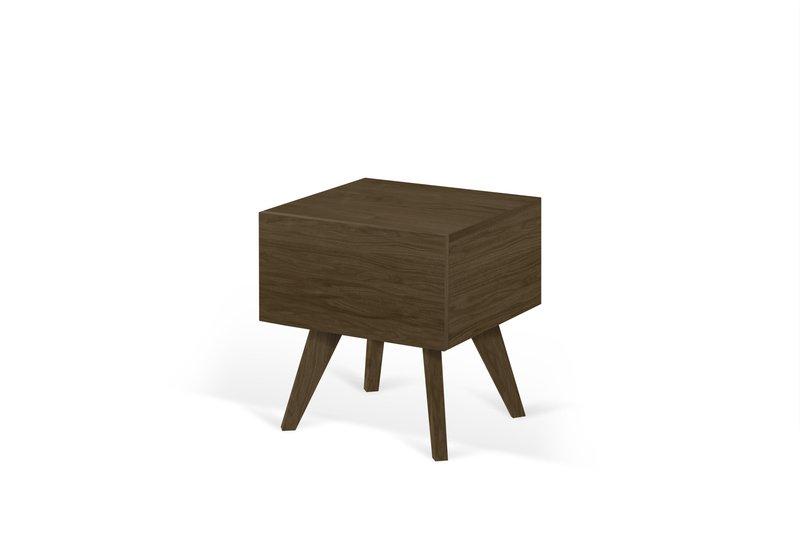 Mara night table wooden legs in walnut veneer temahome treniq 1 1565173633655