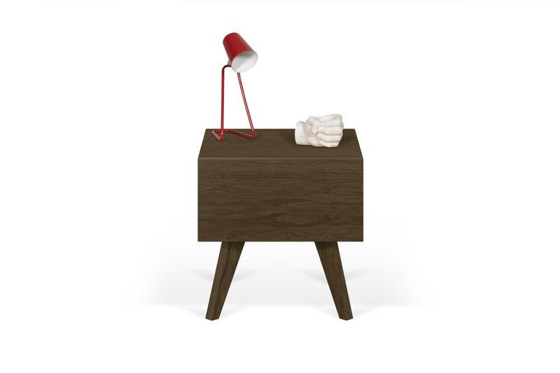 Mara night table wooden legs in walnut veneer temahome treniq 1 1565173633659