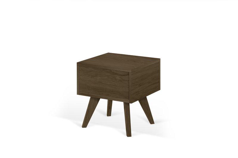 Mara night table wooden legs in walnut veneer temahome treniq 1 1565173633662