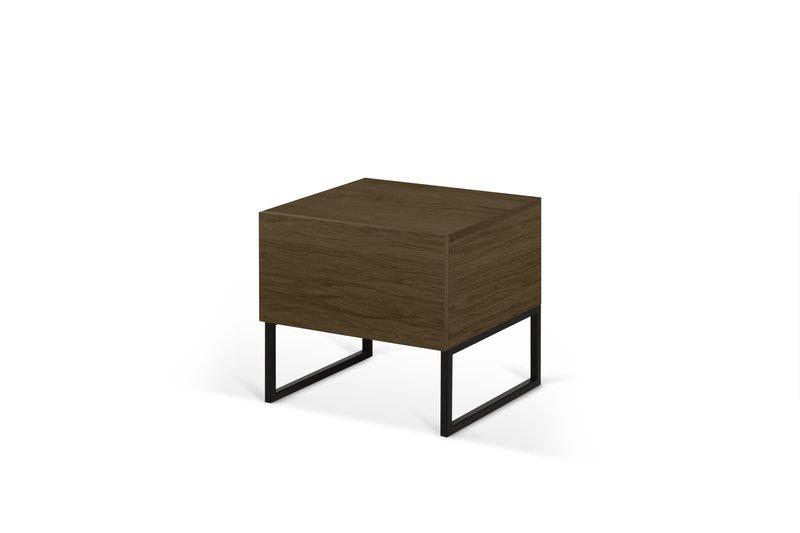 Night table metalic legs in walnut veneer temahome treniq 1 1565174958691