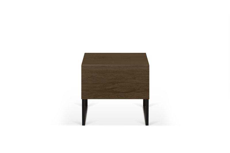 Night table metalic legs in walnut veneer temahome treniq 1 1565174958693