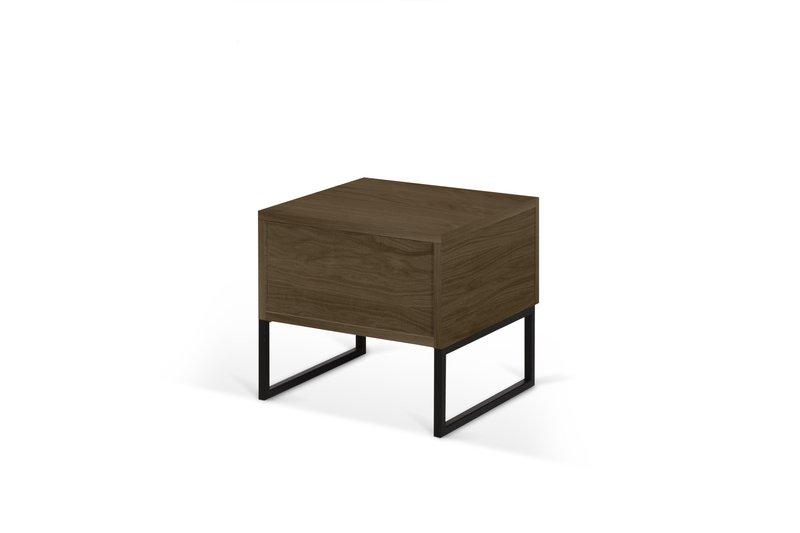 Night table metalic legs in walnut veneer temahome treniq 1 1565174958697