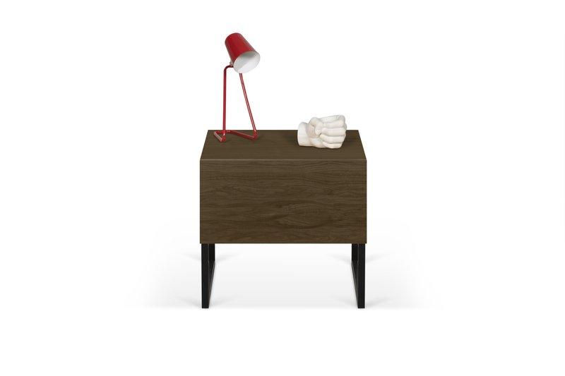 Night table metalic legs in walnut veneer temahome treniq 1 1565174958694
