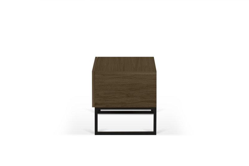 Night table metalic legs in walnut veneer temahome treniq 1 1565174958696