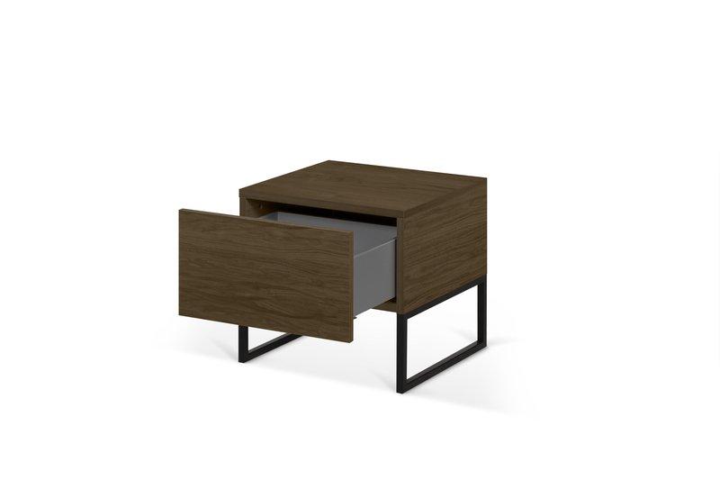 Night table metalic legs in walnut veneer temahome treniq 1 1565174958699