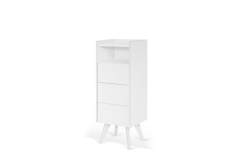 Mara chest of 3 drawers wooden legs in white temahome treniq 1 1565177054744