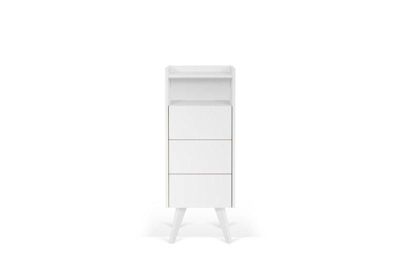 Mara chest of 3 drawers wooden legs in white temahome treniq 1 1565177054746