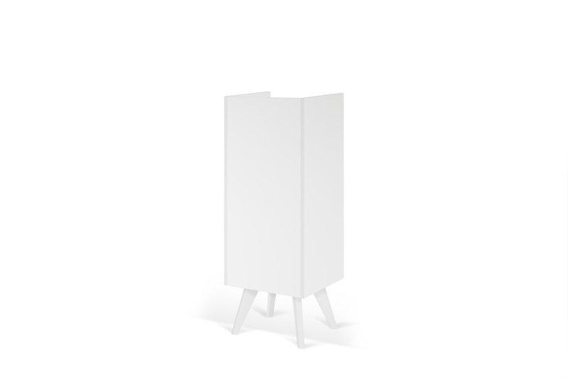 Mara chest of 3 drawers wooden legs in white temahome treniq 1 1565177054749