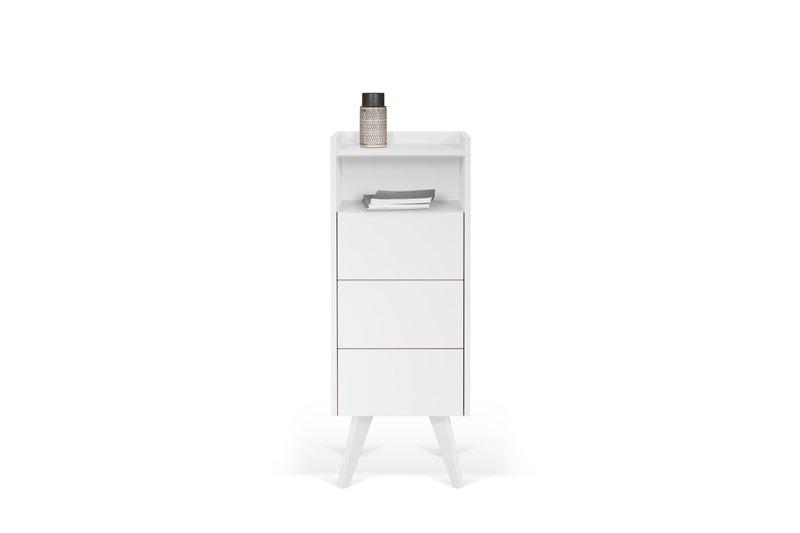 Mara chest of 3 drawers wooden legs in white temahome treniq 1 1565177054747
