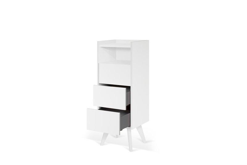 Mara chest of 3 drawers wooden legs in white temahome treniq 1 1565177054751