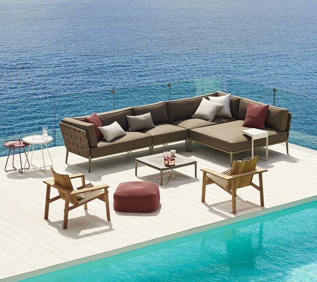 Conic lounge chair incl. cushion set cane line treniq 1 1565779782531
