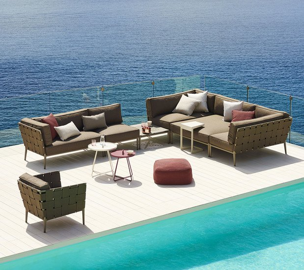 Conic lounge chair incl. cushion set cane line treniq 1 1565779782526