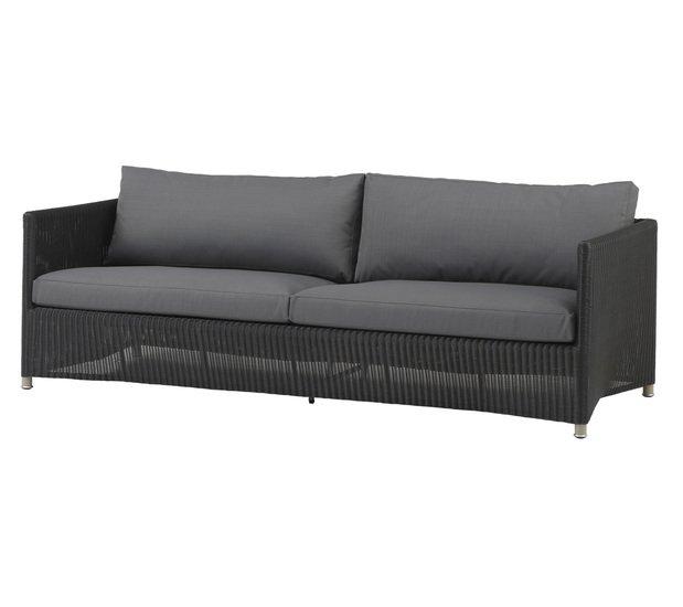Diamond 3 seater sofa incl. grey sunbrella cushion cane line treniq 1 1565781006373