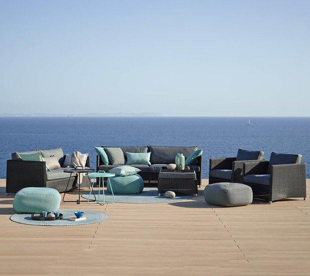 Diamond 3 seater sofa incl. grey sunbrella cushion cane line treniq 1 1565781006375