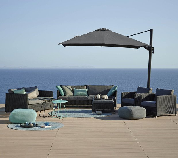 Diamond 3 seater sofa incl. grey sunbrella cushion cane line treniq 1 1565781006374
