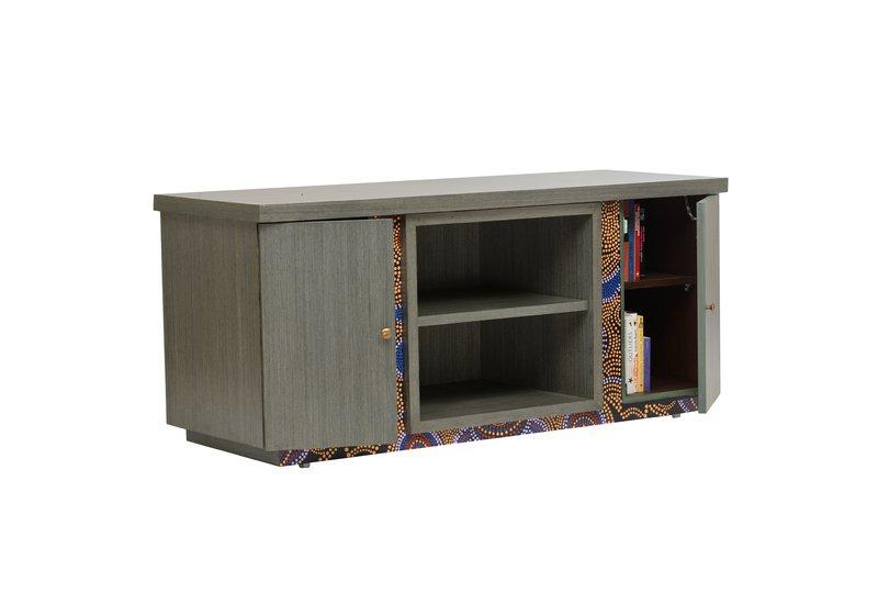 Artsy aboriginal sideboard square barrel treniq 1