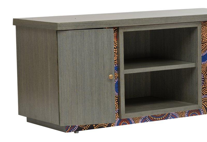 Artsy aboriginal sideboard square barrel treniq 3